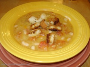 White Bean Soup by Fiddledeedee.net